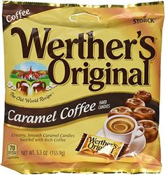 Werther's Original Caramel Coffee Hard Candies, Bags (Pack of Pack of 12 bags Creamy, smooth caramel candies swirled with rich coffee Made in Germany Gluten Free Toffee Cookie Recipe, Toffee Cake, Toffee Cookies, Chocolate Rocks, Chocolate Shop, Melting Chocolate, Toffee Candy Bar, Caramel Candy, Hard Candy Recipes