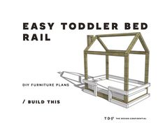 DIY Furniture Plans // How to Build a Toddler Bed Rail | The Design Confidential | Bloglovin'