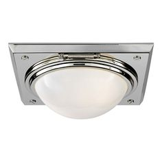 Wainscott Large Flush Mount - Polished Nickel - Ceiling Fixtures - Lighting - Products - Ralph Lauren Home - RalphLaurenHome.com
