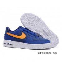 cheap for discount 2b62d 189bd Nike Air Force One Low Men s Blue Orange Super Deals Nike Shoes Cheap, Nike  Air