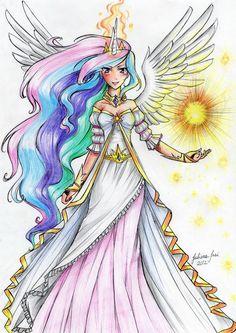 Princess Celestia Humanized by juaiasi on deviantART