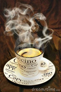 Coffee:  Hot Cappuccino #Coffee.
