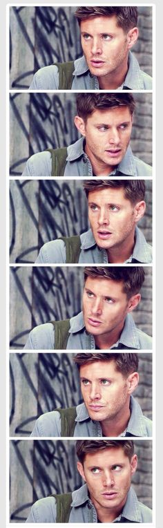 """Dammit, Jensen is somehow even prettier in lighter colors."" He's pretty in any clothes"
