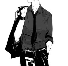 Find images and videos about boy, art and black and white on We Heart It - the app to get lost in what you love. Suit Drawing, Drawing Poses, Body Reference Drawing, Art Reference Poses, M Anime, Anime Guys, Anime Outfits, Boy Outfits, Illustration Mode
