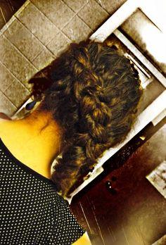 Katniss braid on curly hair