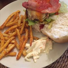 09/08/16- cheese burger and bacon w/ fries