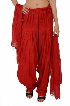WOMEN RED FULL PATIALA SALWARS…