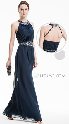A little revealing on the back with a little sparkle! This beautiful dress will surely turn heads from the moment you turn up. #JJsHouse #Eveningdresses