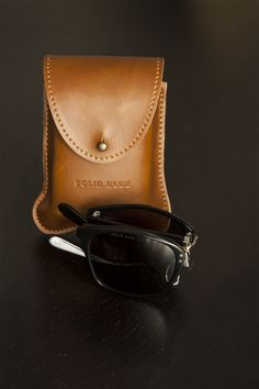 Classic made in Japan sunglasses with cool case.
