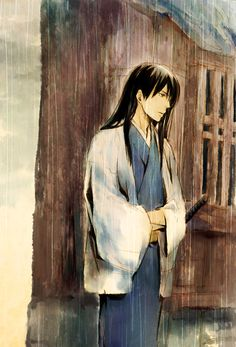 Kotarou Katsura | Gintama | Credits to the owner of the picture, I don't own anything >___<  // It is a nice reflection of the usually cheerful Zura...