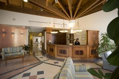 "Hotel ""Le Grotte"". #reception The best way to give you a warm #welcome !"