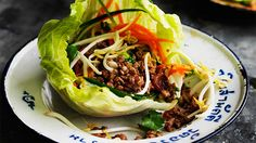 These duck sang choi bao lettuce cups are a great way to get a party started. You can use chicken or beef mince too. Wine Recipes, Asian Recipes, Cooking Recipes, Healthy Recipes, Ethnic Recipes, Savoury Recipes, Chinese Recipes, Healthy Food, Fried Rice Noodles