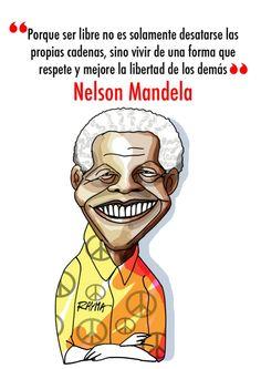 Nelson Mandela por Rayma