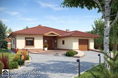 American Dream Homes Modern Family House, Small Modern Home, Simple House Plans, Simple House Design, Bungalow Floor Plans, Architectural House Plans, Cute House, Dream House Exterior, Home Design Plans