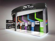 ZKTeco exhibition stand colour render