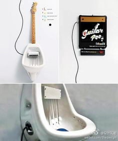 Almap presents the guitar urinal where YOU can be a rock star even in the bathroom!