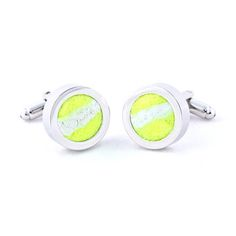 Real Tennis Ball Cufflinks now featured on Fab.