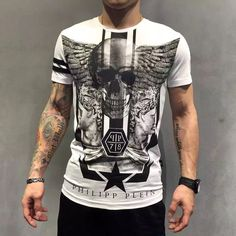 Find More T-Shirts Information about Hot in  summer  2016  new German fashion brandPP T shirt mercerized cotton men's short sleeve drill wings ghost head design,High Quality cotton t-shirts for sale,China t-shirt cool Suppliers, Cheap cotton tee shirts women from UNO Boutique : Brand Men's wear & fashion sunglasses on Aliexpress.com
