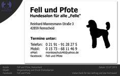 Fell und Pfote - Umgestaltung und Druck - Visitenkarten