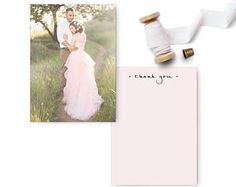 "Wedding Photo Thank You Cards, Wedding Thank You, Unique wedding thank you cards - the ""Aria 2"""