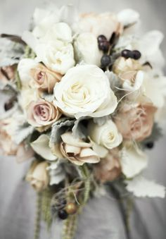 Would love something like this for my bouquet. But with light pinks instead of the beige
