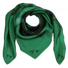 Seidentuch Eye of the Tiger Green meets Black 100% Seidentwill