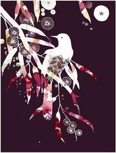 Honeybird (purple) - by yumiyumi I love this artist (Aline Yamada)
