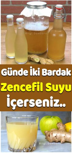 Her gün 2 Bardak Zencefil Suyu İçtiğiniz an.. Detox, Food And Drink, Health Fitness, Drinks, Bottle, Beverages, Flask, Drink, Jars