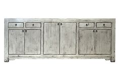 Swansen 4-Door Tall Sideboard on OneKingsLane.com. Made from old temple wood from the Qing Dynasty.  Cool.