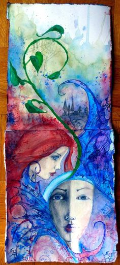 By Wenza Do a watercolor journal program... use images such as this for inspiration.