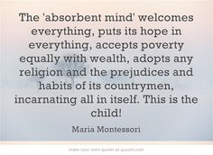 The 'absorbent mind' welcomes everything.