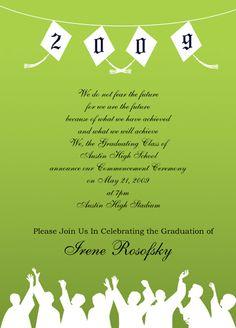 Laurel Wreath Graduation Announcement Black  Announcement