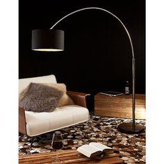 SalesFever Bogenlampe schwarz groß »Alumi« für 199,00€. Moderne Stehlampe…