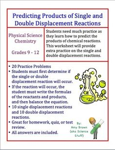 Worksheet Predicting Products Of Chemical Reactions Worksheet equation the ojays and rules for on pinterest predicting products of single double displacement reactions