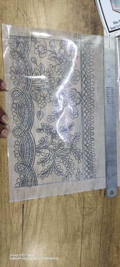 Floral Border, Embroidery Patterns, Boarders, Motifs, Paper, Drawings, Manual, Sketch, Passion