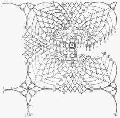 Crochet Art: Cochet Doily Pattern - Very Nice Crochet Motif Patterns, Crochet Blocks, Crochet Squares, Crochet Granny, Filet Crochet, Knitting Patterns, Dress Patterns, Crochet Art, Thread Crochet