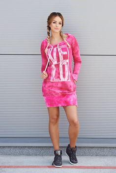 Rochie MissQ Lovely Time Pink. Rochie MissQ din bumbac, scurta, plusata pe…