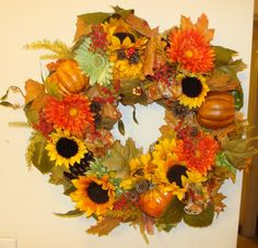 Fall thru Thanksgiving wreath by mimiholt on Etsy, $45.00