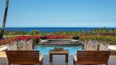 Cher: Show Biz & Luxury Real Estate Star ⋆ Beverly Hills Magazine Infinity Edge Pool, Hawaii Homes, Private Garden, Indoor Outdoor Living, Luxury Real Estate, Outdoor Furniture Sets, Cher, House Design, Hawaiian