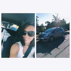 """""""Obligatory first selfie in the newest member of the family, Chip! #hondafitclub"""" Photo taken by @brittanylauren_ on Instagram, pinned via the InstaPin iOS App! http://www.instapinapp.com (09/20/2014)"""