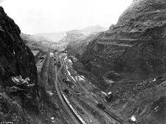 Overview of the Gaillard Cut, formerly Culebra Cut, an excavation deep into Culebra Mounta...
