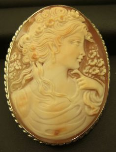 gorgeous, authentic, Italian-made mother of pearl cameos!