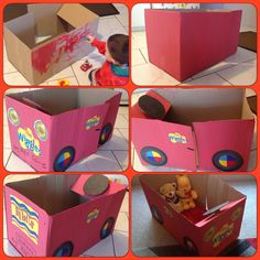 Started with a cardboard box and a 2 year olds imagination. The Wiggles Big Red Car. By Lisa King