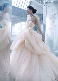 Gorgeous dress, but I love how the designer's used a bit of fish netting to give the dress neckline some texture. Gown by Lazaro Bridal Gowns, Wedding Dresses Style by JLM Couture, Inc. Lazaro Wedding Dress, Lazaro Bridal, Stunning Wedding Dresses, Beautiful Gowns, Bridal Gowns, Wedding Gowns, Ivory Wedding, Beautiful Life, Wedding Venues