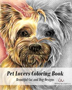 How would you color these hand drawn pet drawings in grayscale? Wouldn't this beautiful coloring book be perfect for anyone who wants to relax, stay creative and even hone your artistic skill?! See this coloring book @ ArtistryByLisaMarie.Etsy.com
