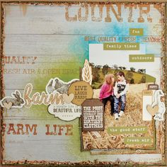 Kaisercraft Old Mac - Farm by Belinda Spencer Scrapbooking Layouts, Scrapbook Cards, Layout Inspiration, Farm Animals, Card Making, Paper Crafts, Mac, Scrapbooks, Farms