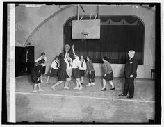 P.M. Gen. New with girls basketball team of Dept., March 1, 1926.  Library of Congress, Prints and Photographs Division, National Photo Company Collection, LC-F8- 39352 (March 1, 1926).