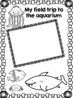Outline Aquarium Coloring Pages Template 1 Here a setup of