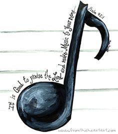 Music Note Print (Psalm 92:1)