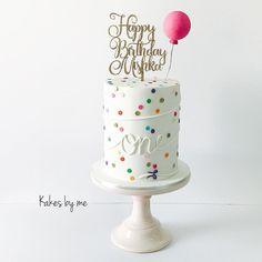 Balloon & Polka Dots Cake